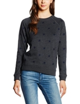 Levi's Damen Classic Crew Sweatshirt, Mehrfarbig (All Over Star Caviar 30), Small -