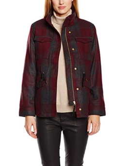 Levi's Damen Jacke Wool Field, Large, Rot (Plaid Merlot) -