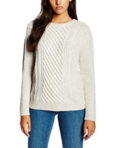 Levi's Damen Pullover Classic Cable Pullover, Small, Grau (Icy Grey Heather) -