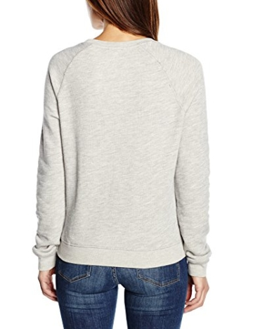 Levi's Damen Sweatshirt Classic Crew With Dorito, Large, Grau (Smokestack Heather) -