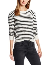 Levi's Damen Sweatshirt Slim Crew Sweater, Mehrfarbig (Lattice Cable Snowflake Black 2), Small -