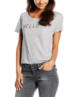 Levi's Damen T-Shirt BF Tee Side Vent NO Pkt, Grau (Hello Sunshine 0004), Small -