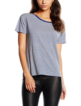 Levi's Damen T-Shirt BF Tee W/ Side Vents, Blau (New Blue/Egret Stripe 11), X-Small -