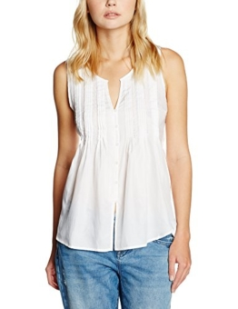 Levi's Damen T-Shirt Ella Pleat Blouse Bright, Weiß (White 0001), Medium -