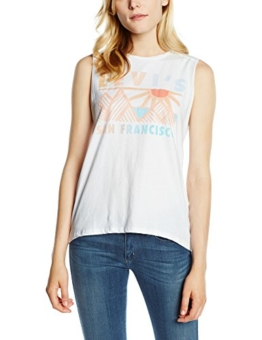 Levi's Damen T-Shirt Graphic Muscle Tank, Large, Weiß (Pyramid Peak/White) -