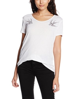 Levi's Damen T-Shirt Perfect U-Neck Tee, Weiß (Swallows White Graphic 17), Small -