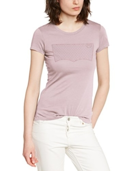Levi's Damen T-Shirt Slim Crew Neck, X-Small, Rosa (Lilac Haze) -