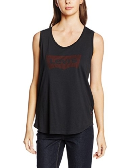 Levi's Damen T-Shirt the Muscle, Schwarz (Festival Tank Caviar 12), Medium -