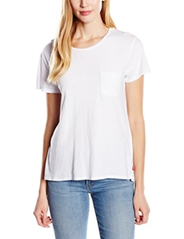 Levi's Damen T-Shirt The Perfect One-Pocket, Small, Weiß -