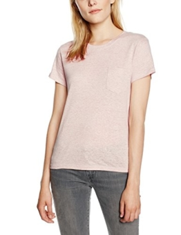 Levi's Damen T-Shirt The Perfect Pocket, Large, Rosa (Peach Haze Heather) -