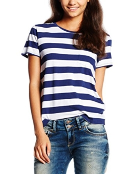 Levi's Damen T-Shirt the Perfect Pocket Tee, Mehrfarbig (Dogwood New Blue/Wht Stripe 42), Small -