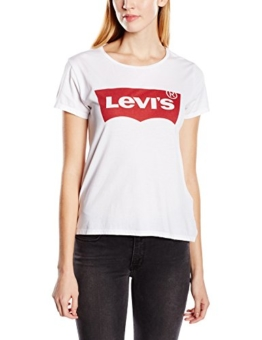 Levi's Damen T-Shirt THE PERFECT TEE, Gr. X-Small, Weiß (LARGE BATWING BRIGHT WHITE 53) -
