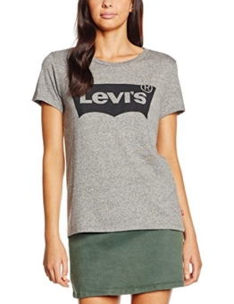 Levi's Damen T-Shirt the Perfect Tee, Grau (Batwing Smokestack Heather 220), Small -